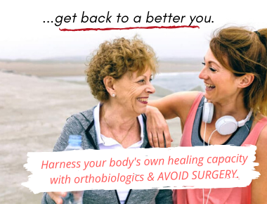 avoid knee replacement by using your body's own healing capacity
